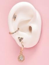 Simple Rhinestone Women Stud Earrings Stylish