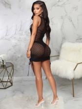 Sexy Sleeveless Solid Short Dress Summer