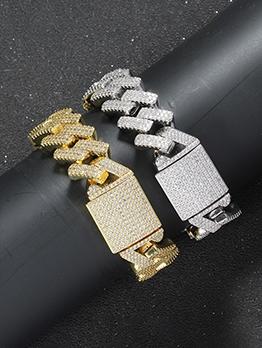 Full Rhinestone Fashion Unisex Cool Bracelet
