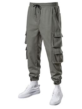 Summer Solid Pocket Drawstring Pencil Pants