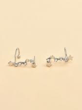 Trendy Rhinestone Geometry Versatile Fashion Earrings