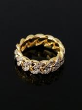 Hip Hop Zircon Geometry Versatile Ring