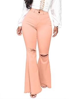Fashion Candy Color Versatile Bootcut Jeans