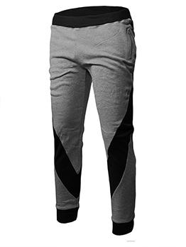 Leisure Contrast Color Elastic Mens Long Pants