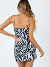 Animal Printed Camisole Short Dresses For Summer