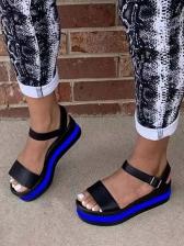 Contrast Color Design Beach Summer Flat Sandals