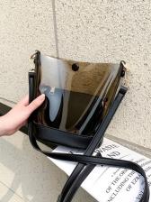 Fashion Plastic Perspective Two Shoulder Bags Set