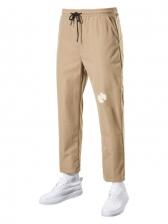 Casual Drawstring Print Straight Mens Long Pants