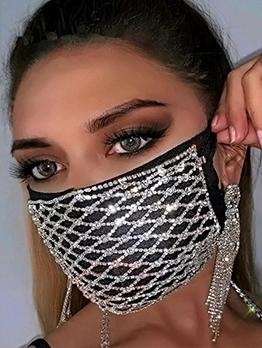 Novelty Rhinestone Design Shiny Mask Accessories