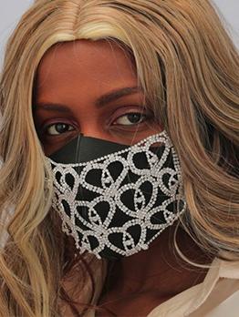 Heart Rhinestone Mask Shape Accessories