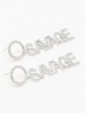 Fashion Street Letter Full Rhinestone Earrings