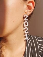 Fashion Street Chic Digital Pendant Earrings
