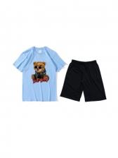 Summer New Bear Print Workout Clothes