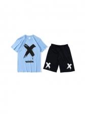 Contrast Color Loose Activewear Sets