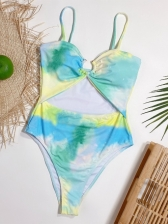 Sexy Hollow Out Tie Dye Swimsuit