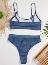 Sexy Solid Tank Bikini Sets Beach