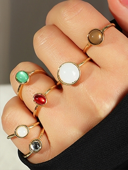 Geometry Resin Knuckle Ring 6 Pieces Set
