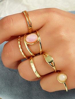 Simple Trendy Resin Fashion Women Ring Set