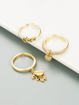 Original Design Intersperse Zircon Women Ring