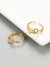Stylish Design Geometry Zircon Versatile Ring