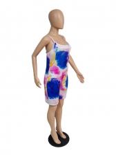 Summer Tie Dye Backless Women Camisole Romper
