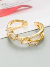 Stylish Geometric Heart Zircon Women Ring