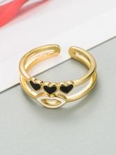 Stylish Crescent Mouth Star Zircon Unisex Ring