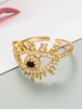 Fashion Zircon Eye Unisex Hip Hop Ring