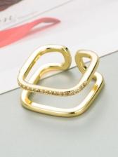 Fashion Geometric Heart Zircon Hip Hop Ring
