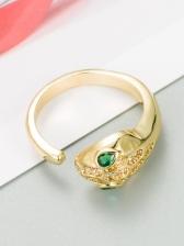 Fashion Snake Zircon Hip Hop Ring