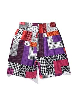 New Arrival Colorful Geometry Printing Mens Short Pant