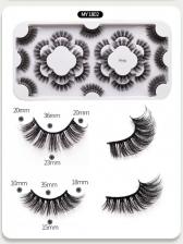 New Black 18 Pairs Pack False Eyelashes