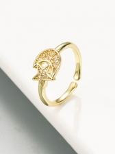 Hip Hop Zircon Star Hand Design Ring