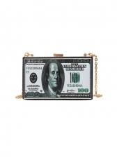 Characteristic Rectangle Shape Dollar Shoulder Bag