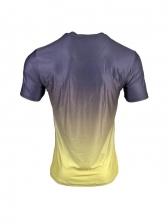 Summer Gradient Color Crew Neck Oversized Tee Shirts