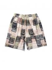 Summer 3D Geometry Printed Custom Half Pants Men
