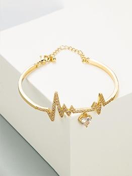 New Arrival Zircon Copper Bracelet For Lovers