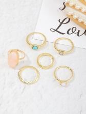 Fashion Easy Matching Geometry Ring