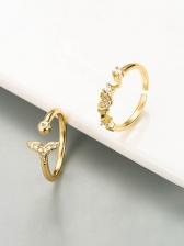 Fashion OL Match Zircon Women Ring