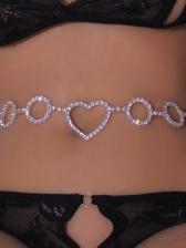 Summer Rhinestone Belly Beach Waist Chain