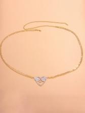 Rhinestone Wings Heart Sexy Beach Waist Chain