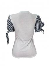 Casual Owl Print Tie-Wrap Tee Shirt