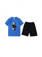 Casual Cartoon Printed Two Piece Activewear Sets