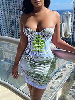Sexy V Neck Off Shoulder Strapless Bodycon Dress