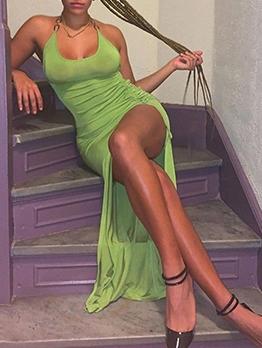 Sexy Ruched Irregular Skinny Midi Dress