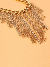 Chic Rhinestone Alloy Golden Anklet For Ladies