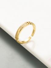 Fashion Geometry Zircon Design Unisex Ring