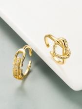 Golden Copper Zircon Trendy Women Ring