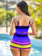 Contrast Color Sexy Two Piece Bikini Sets