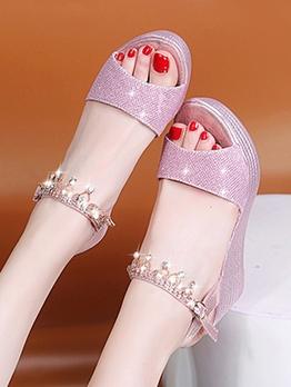 Korean Style Street Fashion Wedge Sandals